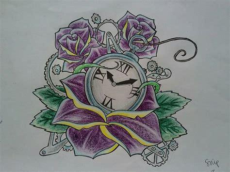 tattoo flash watch rose and pocket watch tattoo tattoo flash pinterest