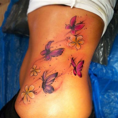 cute butterfly tattoos unique butterfly tattoos on rib side tattooimages biz