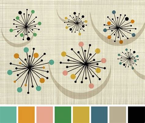 pattern color scheme 40 best 50s paint images on pinterest color palettes