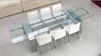 Glass Dining Room Tables With Extensions modern dining room set bonaldo