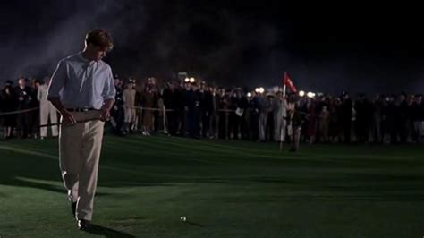 bagger vance authentic swing watch college golfer sinks putt under the lights