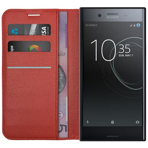 leather wallet for sony xperia xz premium
