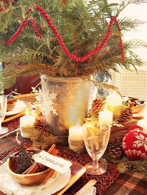 rustic christmas table decorations 2012 ideas from hgtv