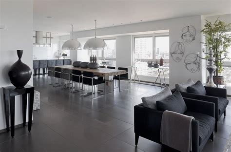 modern white and gray apartment interior design by