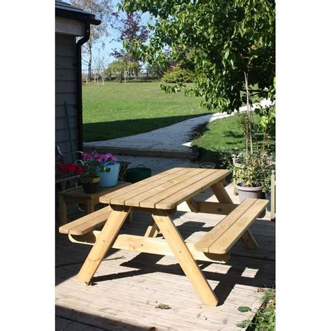 pine picnic bench pine 6 seater picnic bench homegenies