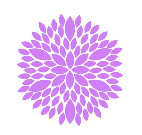 clipart flower purple flower clip free images at clker vector