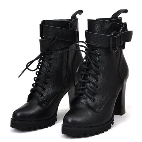 high heel motorcycle boots back roads beauty