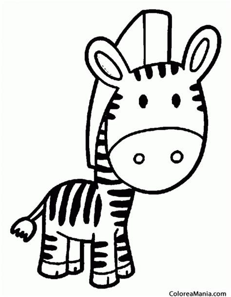 imagenes de cebras para dibujar faciles colorear cebra con cabeza grande animales de la selva