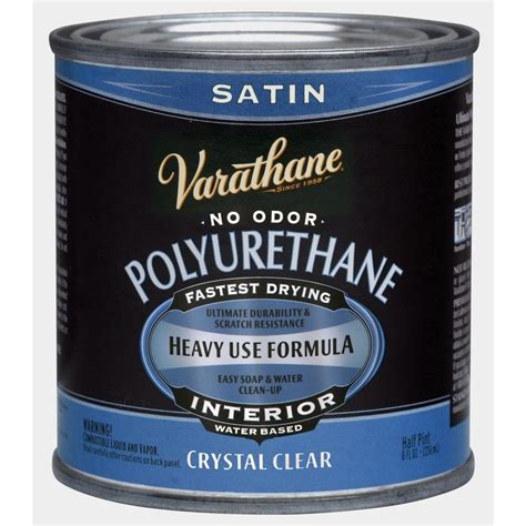 Based Or Water Based Polyurethane For Floors by Varathane 1 2 Pt Clear Satin Water Based Interior