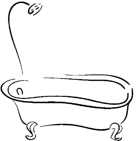 Page Shower by Shower Tub Free Printable Bathroom Coloring Pages