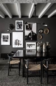 home interior design wall decor black paint dark rooms home decorating interior design