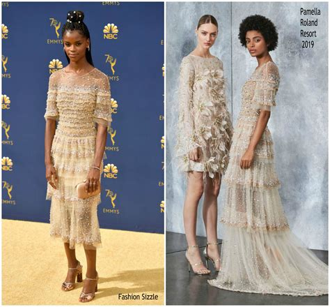 letitia wright emmy 2018 letitia wright in pamella roland 2018 emmy awards