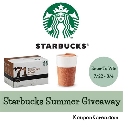 Bucks Giveaway - summer giveaway treat from starbucks giveaway