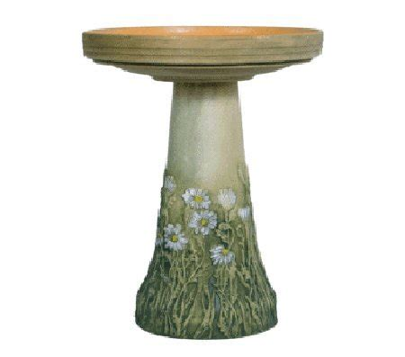 replacement birdbath bowl top for handcrafted clay