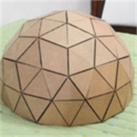How To Make A Paper Dome Step By Step - how to make a geodesic dome s scale model with cardboard