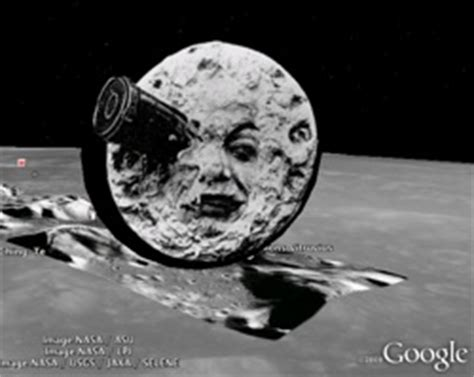 funny easter egg in moon module of google earth