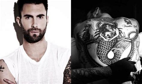 adam levine back tattoo maroon 5 singer adam levine unveils new india