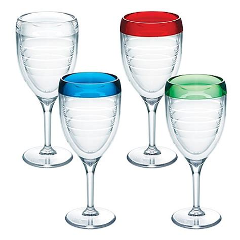 bed bath and beyond glassware tervis 174 9 oz wine glasses set of 2 bed bath beyond