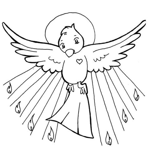 holy spirit pentecost coloring pages holy spirit pentecost catholic coloring page catholic