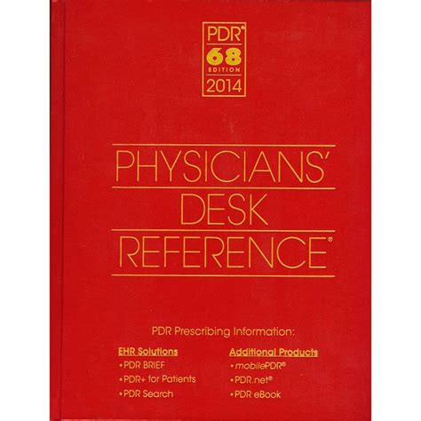 Physicians Desk Reference by Physicians Desk Reference 2014 References Books
