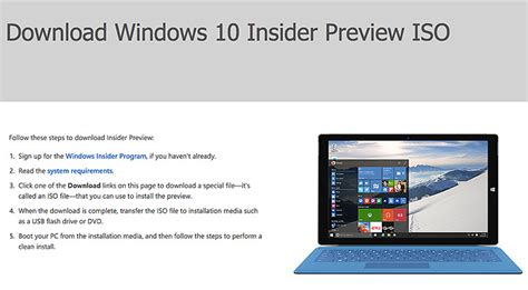 install windows 10 insider preview how to download and install windows 10 insider preview for