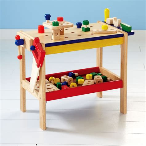 kids toy work bench build dramatic play and fine motor skills with a wooden