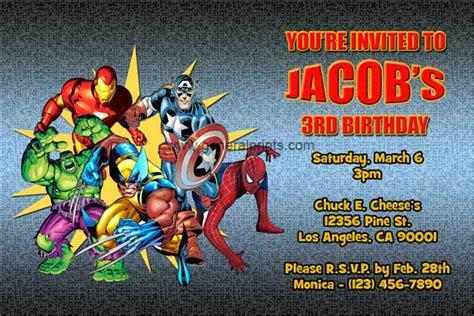 printable birthday invitations superhero superheroes birthday party invitation ideas new party ideas
