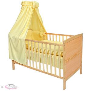 Moses Baby Crib Baby Crib Cradle Cot Bassinet Bed Wood Moses Basket Bedding Set Mattress Roof Ebay