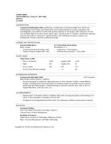 Aviation Resume Builder by Pilot Resume Template Uxhandy