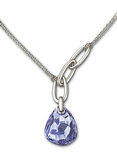 swarovski mini parallele tanzanite necklace