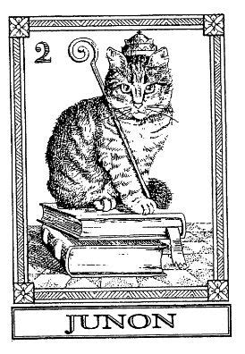 Frantic Stamper Cling-Mounted Rubber Stamp - Cat Tarot
