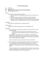 Tax Research Memo Template by Tax Research Memorandum Exle 0113 Tax Research