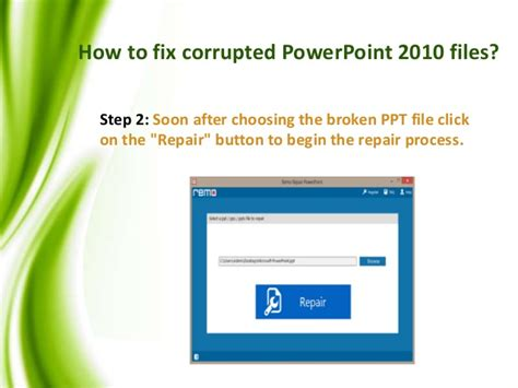 repair powerpoint file how to repair microsoft powerpoint 2010 files
