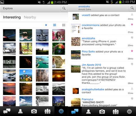 flickr for android flickr app for android gets a refreshed user interface and some more new features android news