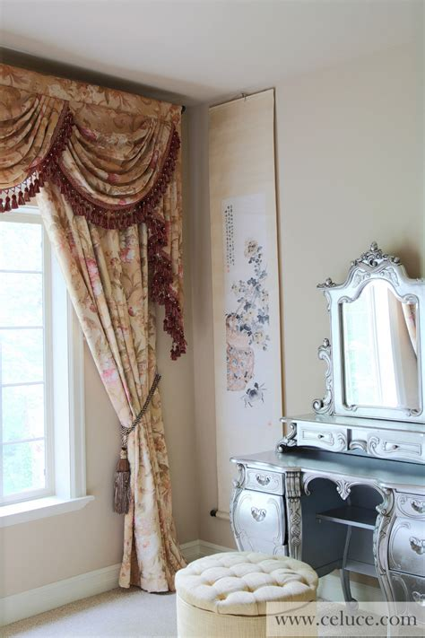 jabots and swags curtains pink floral swags and jabots valance curtain drapes