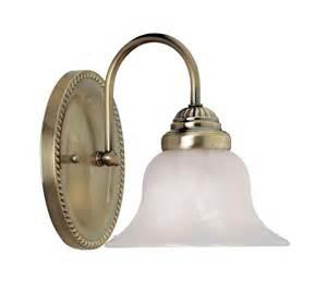 Antique Brass Bathroom Light Fixtures Livex Edgemont 1 Light Antique Brass Bathroom Vanity Lighting Fixture 1531 01 Ebay