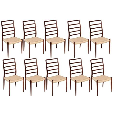 10 chair dining room set neils moller no 82 highback dining chairs in rosewood