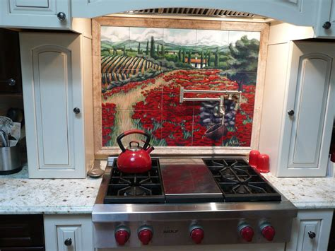 Ceramic Tile Murals For Kitchen Backsplash Kitchen Backsplash Tile Mural Custom Tile And Tile Murals