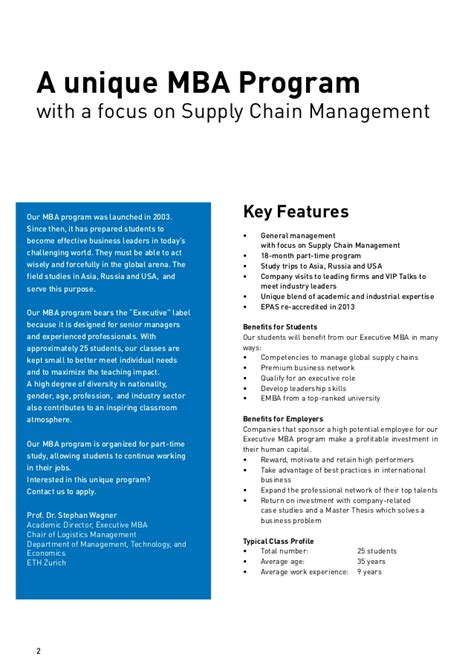 Mba Supply by Mba Eth Scm Brochure