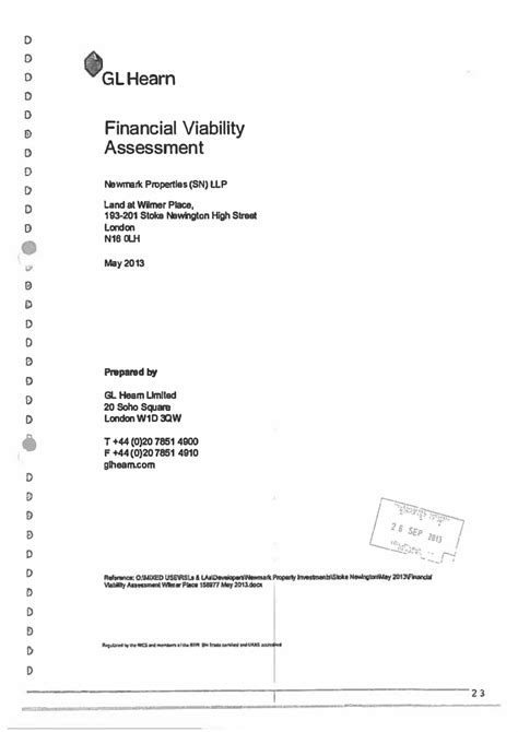 Financial Viability Letter Collated Viability Assessments 35 Caign