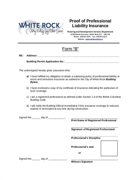 22 Liability Form Templates Proof Of Insurance Templates