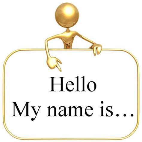 what is my s name the importance of name tags