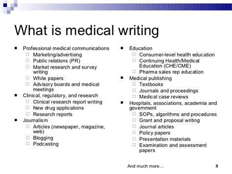 careers in medical writing