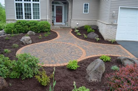 front yard pavers burnsville front entry patio ns landscapes