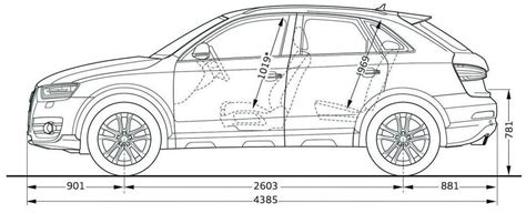 Abmessungen Audi Q3 by Dimensions 3 4 Audi Q3 2011 Http Audi Q3 Free Fr