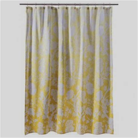 yellow fabric shower curtains threshold yellow ombre floral fabric shower curtain yellow