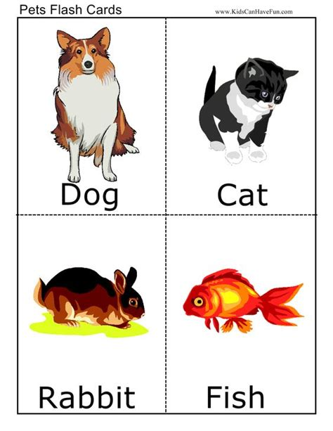 printable animal go fish cards flashcard pets and cards on pinterest
