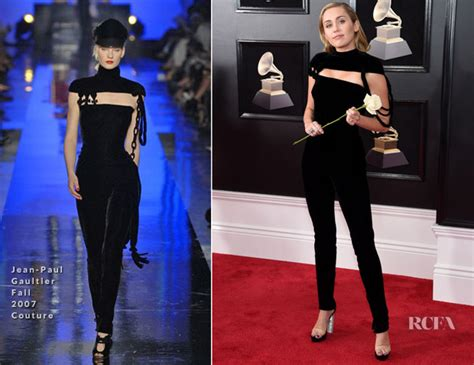 Carpet Trend Of 2007 by Miley Cyrus In Jean Paul Gaultier Couture 2018 Grammy