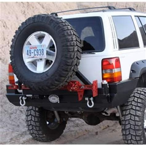 Bumper Universal Limited Stok rock 4x4 patriot series rear bumper with tire carrier