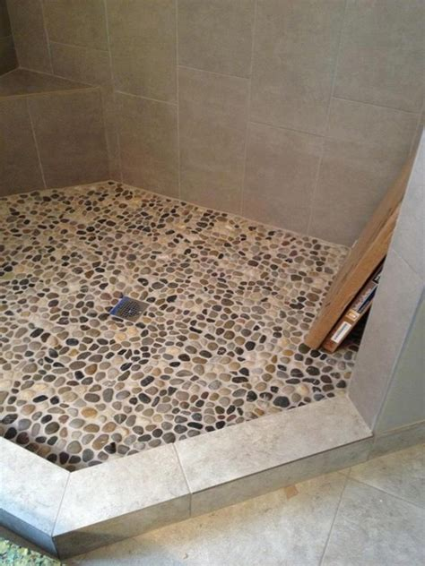 Affordable Kitchen Backsplash pebble rock shower floor traditional detroit by troy